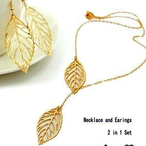 Jewelry - Double 🍂 Pendant necklace w/ earrings 🍂